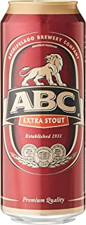 ABC Extra Stout Beer Can, 500ml (Pack of 24)