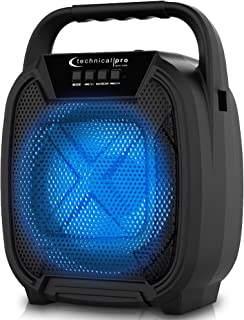 $24 » Sponsored Ad - Technical Pro Portable 300 Watts Bluetooth Speaker w/USB SD, and Mic Inputs, Offers 3 Hours of Continual Mu...