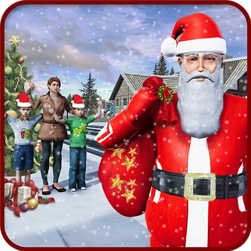 entrega de regalos de santa: juego de navidad divertido