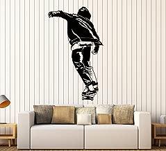 Large Vinyl Wall Decal Skateboard Teen Room Street Style Stickers Large Decor (ig4564) Black