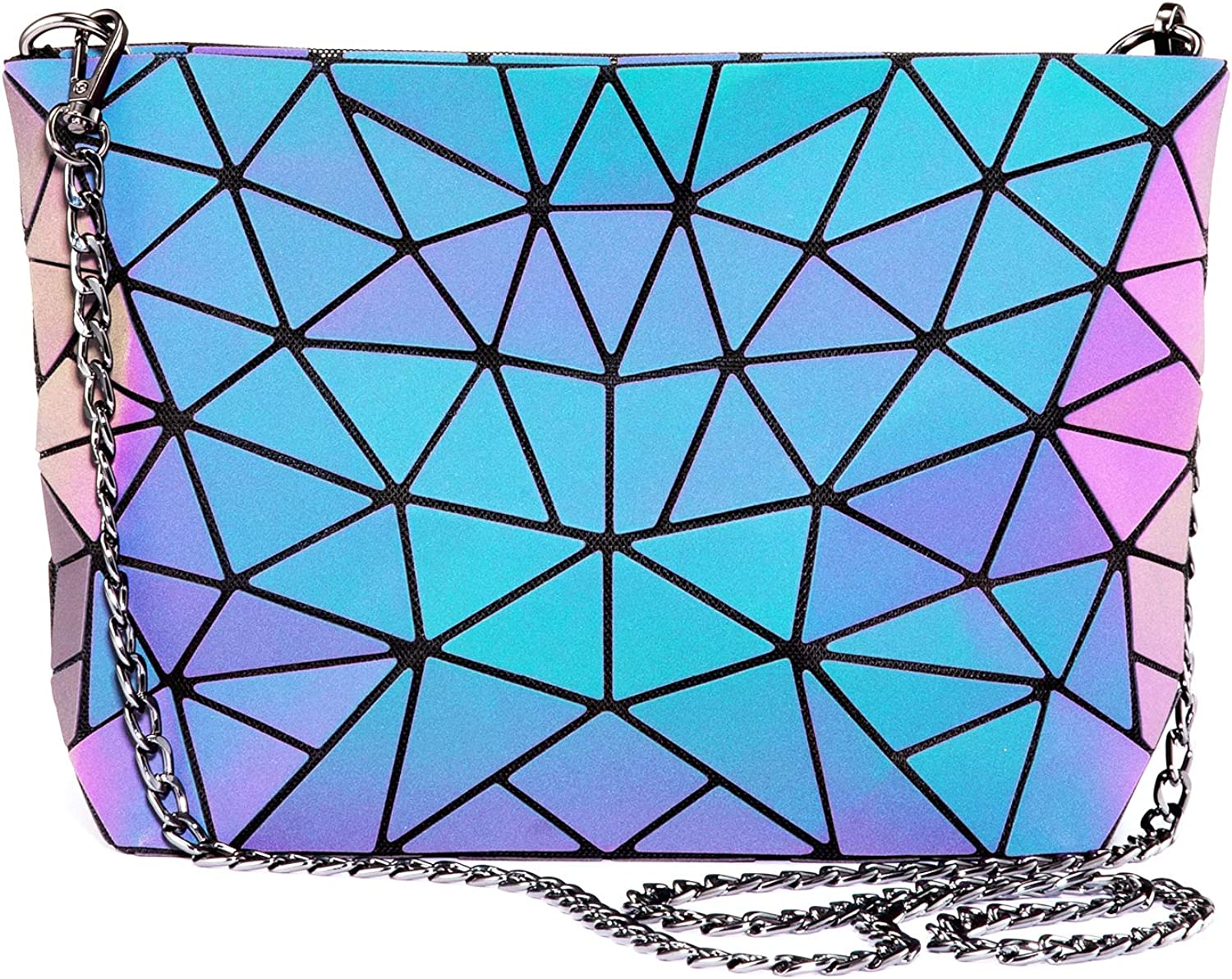 Geometric Luminous depot Now free shipping Purses and Handbags Ref for Holographic Women