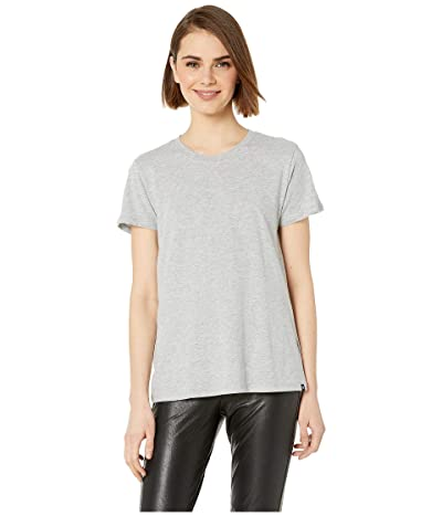 Hurley Solid Perfect Crew T-Shirt Short Sleeve (Grey Heather) Women
