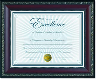 Dax World Class Document Frame with Certificate, Walnut, 8 1/2 x 11 Inches (N3245N2T)