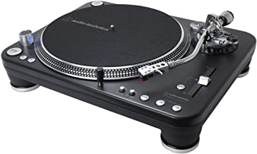 Audio-Technica ATLP1240USBXP Direct-Drive Professional DJ Turntable (USB & Analog), Black, Selectable 33 -1/3, 45, and 78 RPM Speeds, High-torque, Multipole Motor, Convert Vinyl to Digital