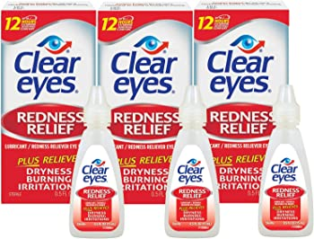 3-Pack Clear Eyes Redness Relief Eye Drops, 0.5 Fl Oz