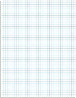 TOPS Quadrille Pad, 8.5 x 11 Inches, 15 Pound Stock, 50 Sheets per Pad, 6 Pads per Pack, White (99522)