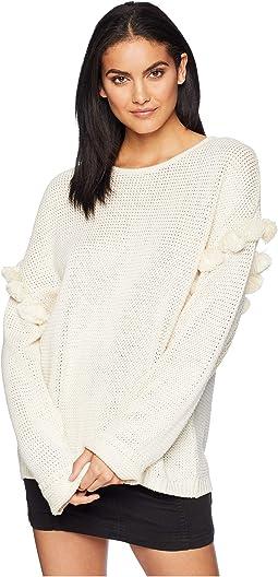 Oversize Pom Pom Sweater