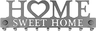 Porte-Clés Mural Home Sweet Home Métal composé de 9 Crochets, Fabrication Artisanale Française, Déco Design & Moderne, Ran...