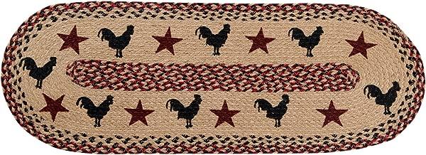 """أفضل الأزياء/Pan خارج البلاد Rooster 13x 3613. 5"""" x 36"""" مفرش طاولة ، لون عنابي"""