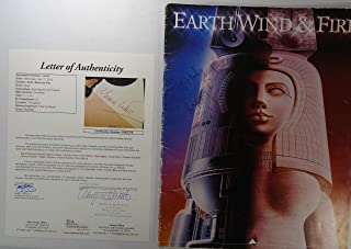 Signed Earth Wind & Fire 1982 Tour Book Program Maurice All 9 Jsa Loa # Bb02375