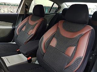 Schwarz Effekt 3D Sitzbezüge für SUZUKI SX4 Autositzbezug VORNE