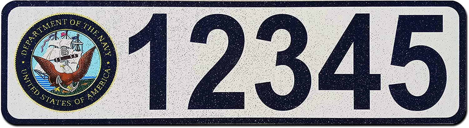 Military Curb Wrap Reflective Address Max 63% OFF Decal Personalized High order
