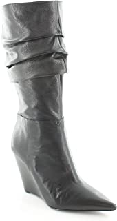 Womens Vernese Leather Slouchy Mid-Calf Boots