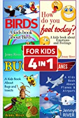 Kids Books Bundle : Kids Book About Airplane, Kids Book About Birds, Kids Book About Bugs and Insects, Kids Book About Emotions and Feelings Kindle Edition