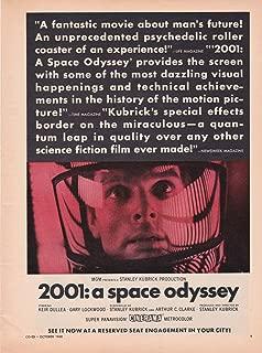 2001 A SPACE ODYSSEY MOVIE AD 1968 Original Magazine Page Advertisement