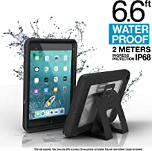 iPad Mini 4 Waterproof Case Shockproof by Catalyst, High Touch Sensitivity ID, Multi Position Stand, Military Grade Premium Quality Material, Stealth Black