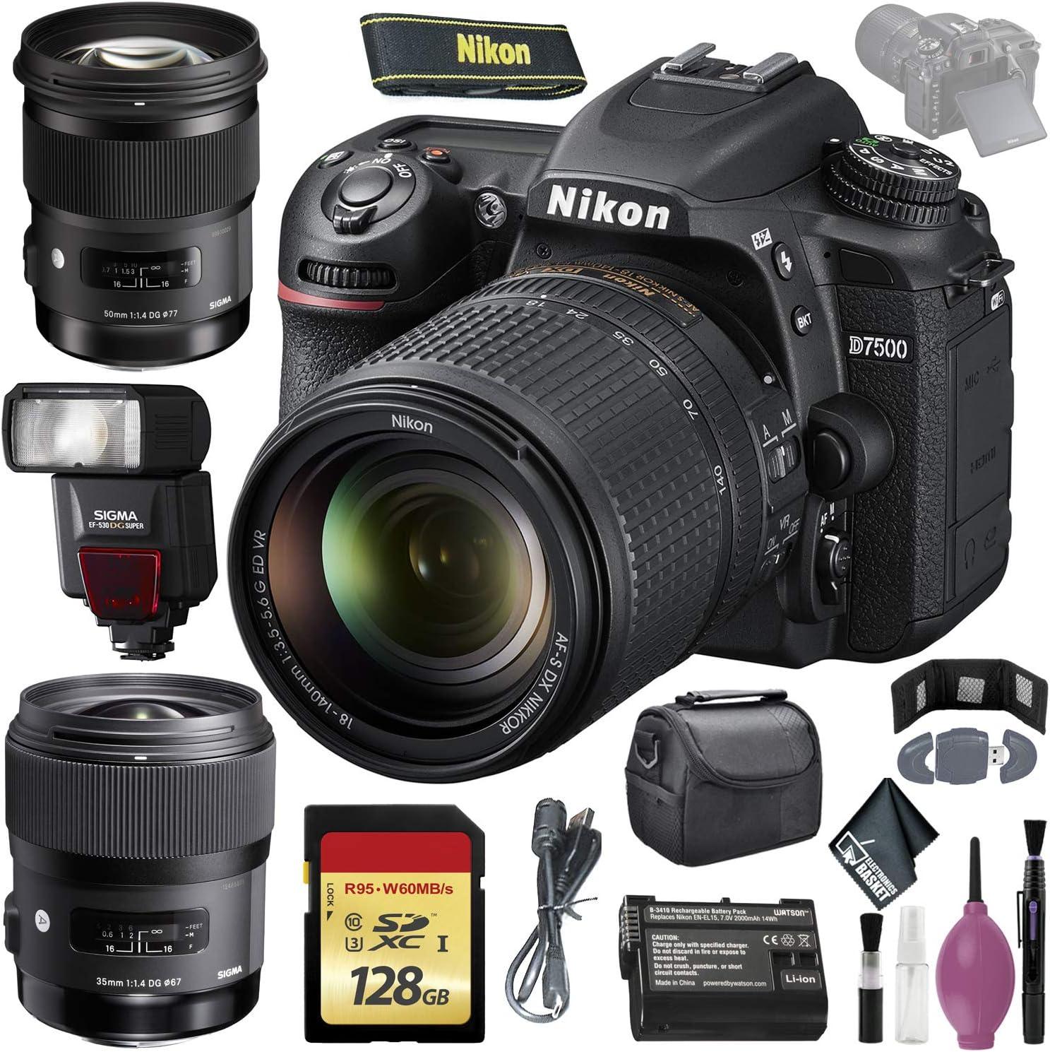 Nikon D7500 DSLR Camera w Max 70% OFF 18-140mm Lens International Model San Antonio Mall -