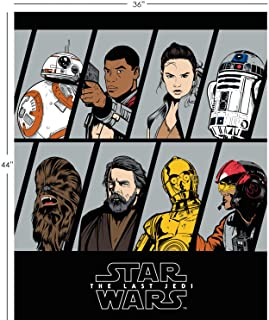 Star Wars: The Last Jedi Resistence Characters in Stone Fabric by The Panel