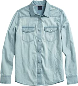 Denim Shirt with Magnetic Buttons