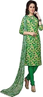 Minu salwar Cotton Printed Suit sets Green(Elegance_2007)