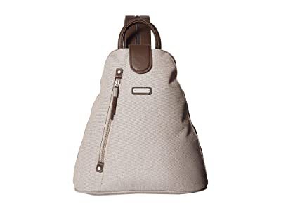 Baggallini New Classic Metro Backpack with RFID Phone Wristlet (Sand) Backpack Bags