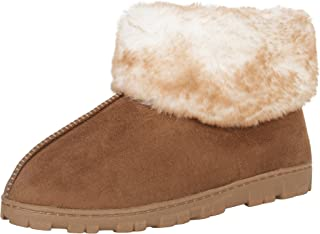 Women's and Girls Microsuede Super Soft Bootie Slippers with Indoor Outdoor Sole- Mommy & Me Set Options