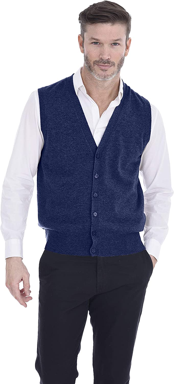 Cashmeren Al sold out. Button Down Sweater Vest Cashme Pure shopping 100% Knit Classic