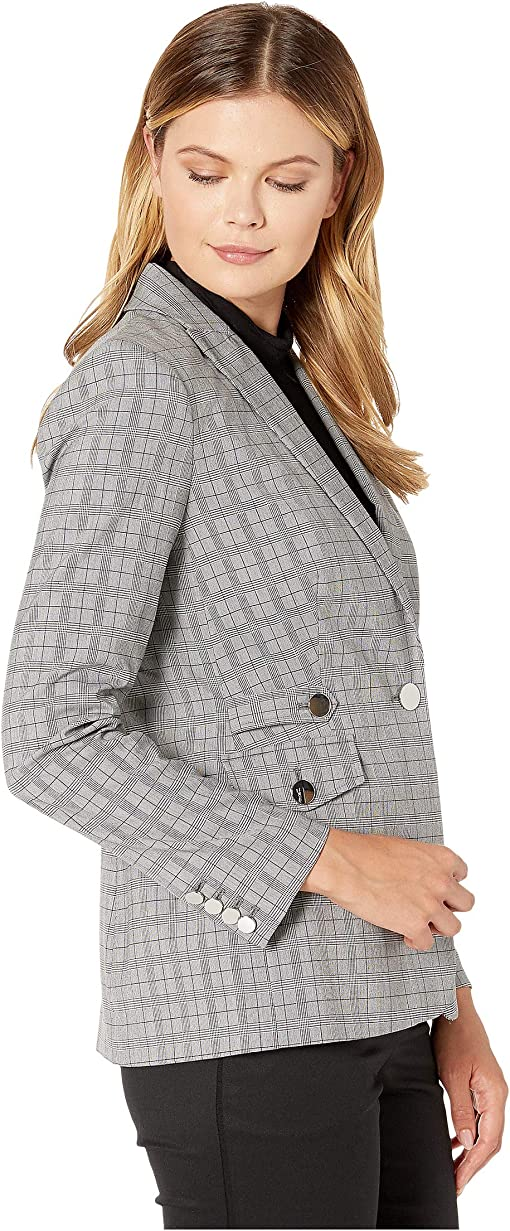 Light Grey Glen Plaid