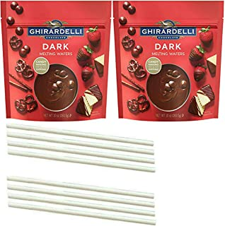 Ghirardelli Chocolate Melting Wafers. One Stop Shopping for the Best Tasting Dipping Dark Chocolate Meltable Wafers. Tempered Candy Melts for the Fondue or Microwave. Also includes 8 Dipping Sticks.