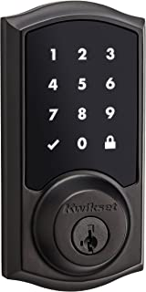 Kwikset 99160-009 SmartCode ZigBee Touchscreen Smart Lock works with Echo Plus & Alexa, featuring SmartKey, Venetian Bronze