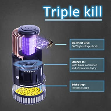 3 in 1 Thanos Indoor Bug Zapper Mosquito Killer Lamp Fly Insect Trap with UV Light Attractant Sticky Boards for Indoor Outdoo