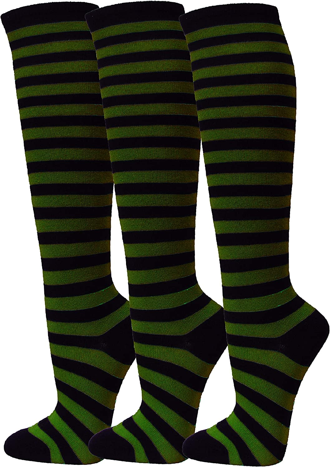 Couver Striped Women's Halloween costume Japan's largest assortment Special price for a limited time Knee High Tube Fashion