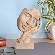 BECKON VENTURE Presents New Human Face Statue with Hand on his Mouth Showpiece for Home Decor|Decorative Items for Room|Ha...