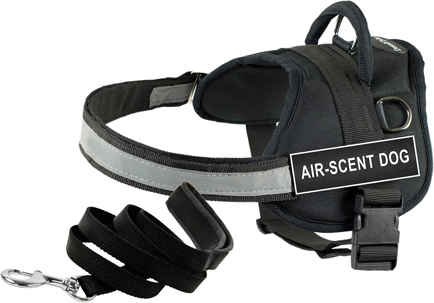 Dean & Tyler's DT Works AIRSCENT DOG Harness, XSmall, with 6 ft Padded Puppy Leash.