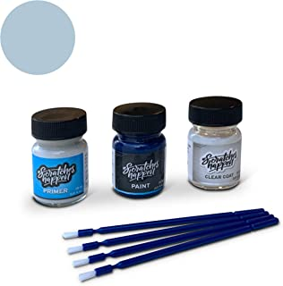 ScratchesHappen Exact-Match Touch Up Paint Kit Compatible with Audi Glacier Blue (LZ7K) - Preferred