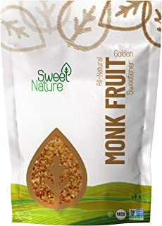 Sweet Nature Monk Fruit Sweetener, Golden - Non GMO - Gluten Free - Sugar Substitute - Kosher - Keto Friendly (3 lbs)