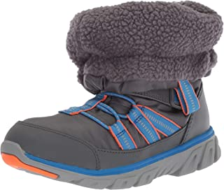 Stride Rite Baby Boy's and Girl's Machine Washable Snow Boot, Grey, 7 M US Toddler