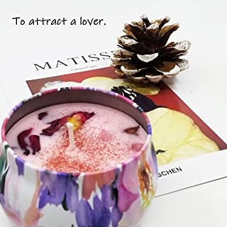 MAGIC FUNCTION Aromatherapy Spiritual Scented Candle with Dried Flower, 5.7Oz, 25 Hours. (LOVE ME)