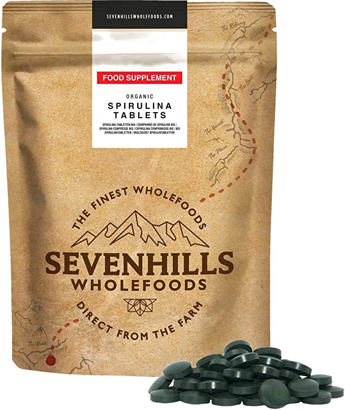 Sevenhills Wholefoods Espirulina Comprimidos Orgánico 500g (1000 x 500mg)