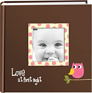 Pioneer Photo Albums EV-246FB/O 200-Pocket Baby Owl Printed Designer Frame Cover Photo Album 4 x 6 Inch Pink EV-246FB/OP