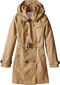 Burberry Kids - Buckingham Classic Double Breasted Trench w/ Hood (Little Kids/Big Kids)