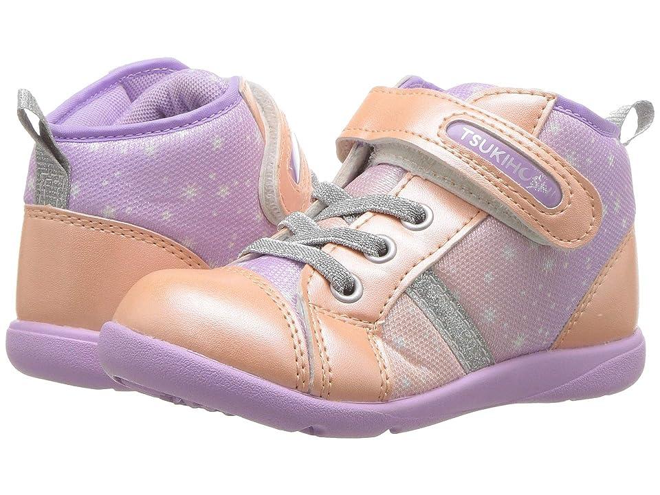 Tsukihoshi Kids Star (Toddler/Little Kid) (Peach/Lavender) Girls Shoes