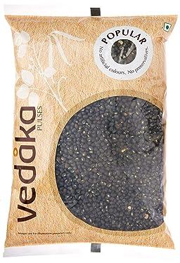 Amazon Brand - Vedaka Popular Black Urad Whole / Sabut, 1 kg