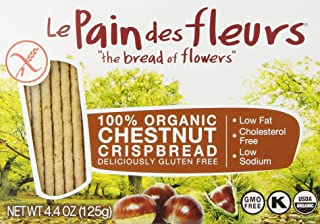 Le Pain des Fleurs Crispbread, Chestnut, 4.4 Ounce