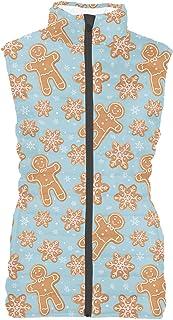 Rainbow Rules Winter Gingerbread Cookies Womens Puffer Vest Bodywarmer Gilet