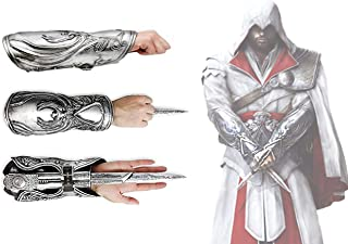 Acrim Toys Assassins Creed Brotherhood Hidden Blade Gauntlet Vambrace Cosplay Replica Halloween Play Game Fun Silver