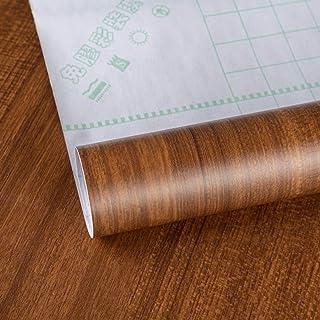 貼って剝がせる木目壁紙シールダークウォールナット木目風40CMx10Mウォールステッカーリメイクシート耐熱防水カッティングシート家具壁補修DIYキッチン床テーブル食器棚ドアドレッサー クローゼット ドア