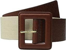50mm Monogram Panel Belt on Self Cover Buckle