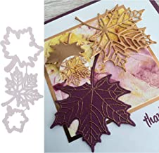 3Pcs/Set Maple Leaf Metal Die Cuts,Flower Leaf Frame Cutting Dies Cut Stencils for DIY Scrapbooking Album Decorative Embos...