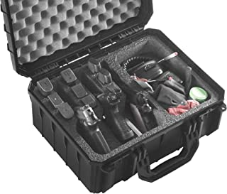 Case Club Waterproof 3 Pistol Case & Accessory Pocket with Silica Gel to Help Prevent Gun Rust